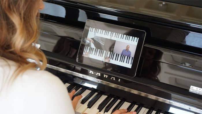 Klavier online lernen geht mit Zapiano.