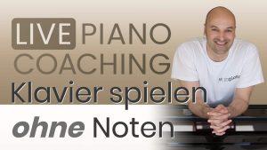 Klavier spielen ohne Noten