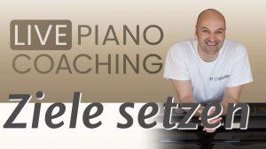Ziele setzen Klavier